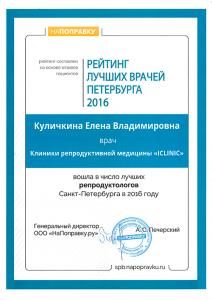 Народный рейтинг врачей Санкт-Петербурга 2016